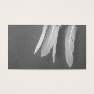 Feather Feathers Lace Sepia Grunge Business Cards
