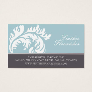 Feather Flourish Business Cards