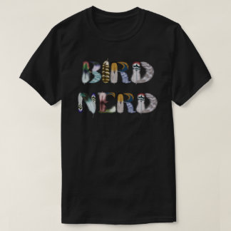 Feather Font: Bird Nerd T-Shirt