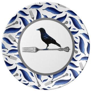 Feather, Fork, Bird Decorative Plate