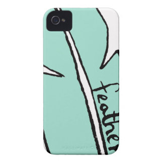 feather green iPhone 4 cover