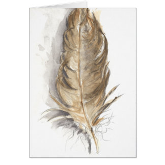 """""""Feather"""" greeting card"""