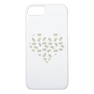 Feather heart design iPhone 7 case