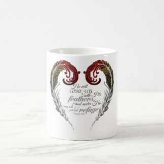 Feather Heart Scripture Mug