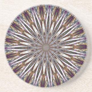 Feather Kaleidoscope Beverage Coaster