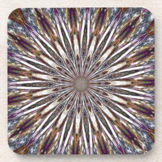 Feather Kaleidoscope Drink Coasters
