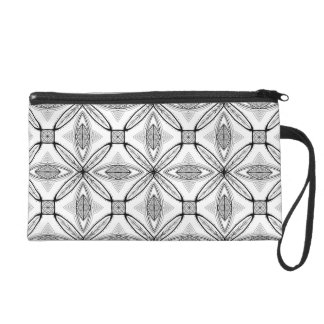 Feather Mandala Design with Transparent Background Wristlet