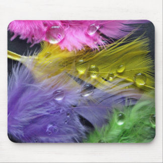 Feather mousemat mouse pad