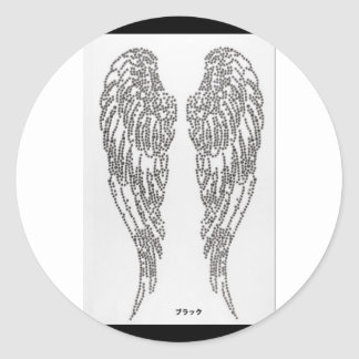 Feather of angel classic round sticker