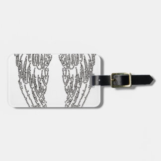 Feather of angel luggage tag