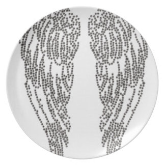 Feather of angel plate
