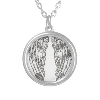 Feather of angel silver plated necklace