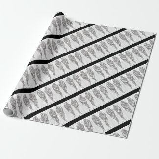 Feather of angel wrapping paper