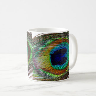 Feather of hole sparrow coffee mug