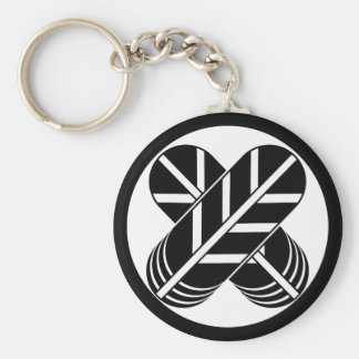 Feather of Shiragawa 鷹 Basic Round Button Keychain