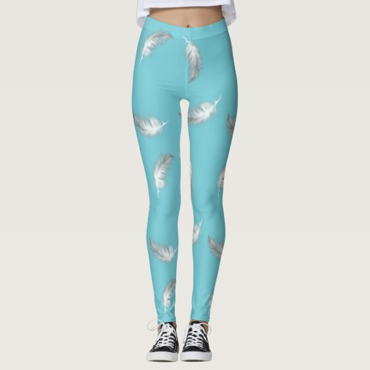 Feather Pattern (customizable background colour) Leggings