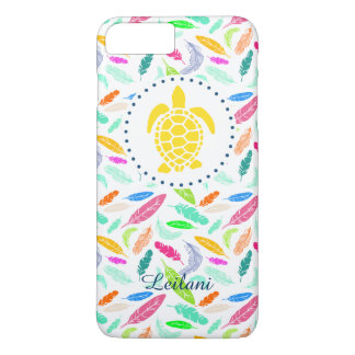 Feather Pattern Turtle Phone Case