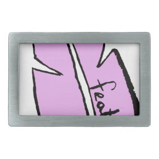 feather pink belt buckle