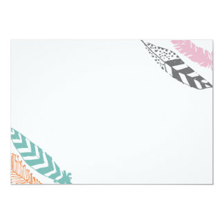 Feather Print 5x7 Stationery by Origami Prints Card