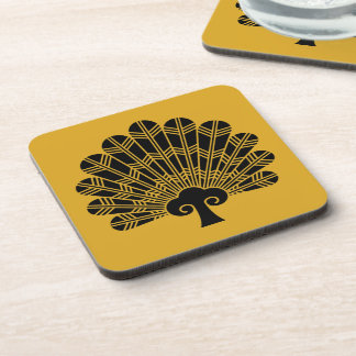 Feather round fan of 鷹 coaster