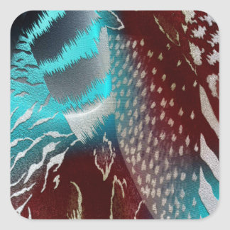 Feather Texture Template Square Sticker