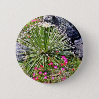 Feather-tipped Succulent 2 Inch Round Button