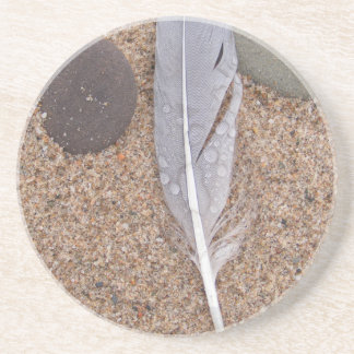 feather water droplets.jpg beverage coasters
