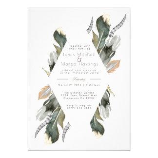 Feather Watercolor Diamond Overlay    Rehearsal Card