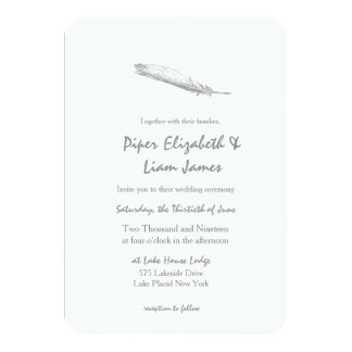 Feather Wedding Invitation