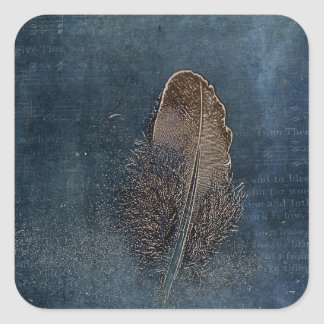 Feather with Meaning Square Sticker