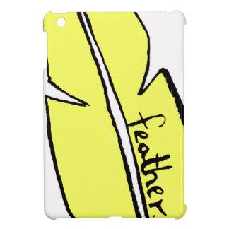 feather yellow iPad mini cover