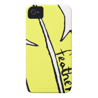 feather yellow iPhone 4 Case-Mate case