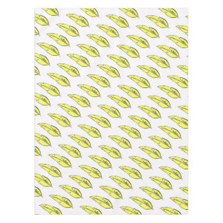 feather yellow tablecloth