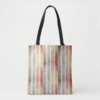 feathered arrow tote bag
