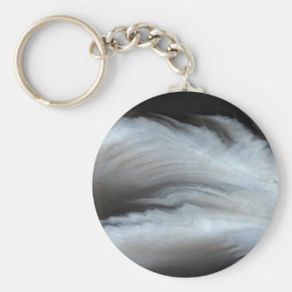 Feathered Black Agate cool natural stone Keychain