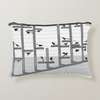 Feathered Dinosaur Cladogram Pillow