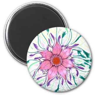 Feathered Flower Magnet