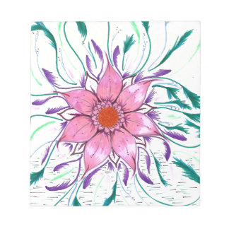 Feathered Flower Notepad