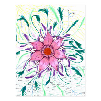 Feathered Flower Postcard