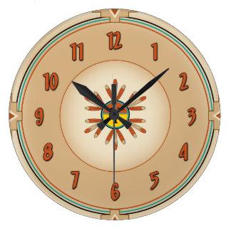 Feathered Kachina Sun Face Clocks