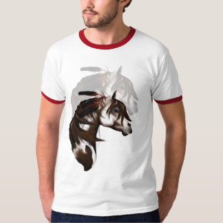 Feathered Paint Horse shadowed Shirts