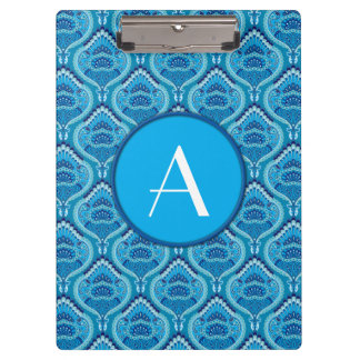 Feathered Paisley - Blueish Clipboards