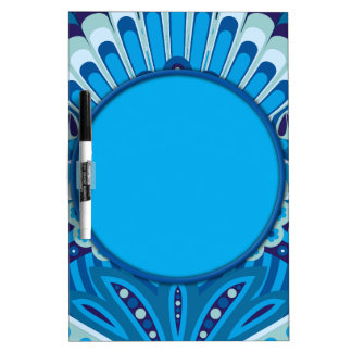 Feathered Paisley - Blueish Dry Erase Board