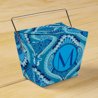 Feathered Paisley - Blueish Favor Box