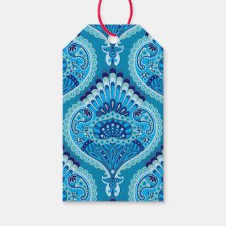 Feathered Paisley - Blueish Gift Tags