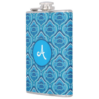 Feathered Paisley - Blueish Hip Flask