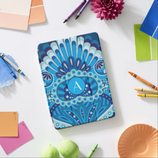 Feathered Paisley - Blueish iPad Air Cover