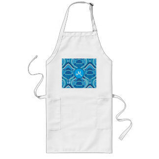 Feathered Paisley - Blueish Long Apron