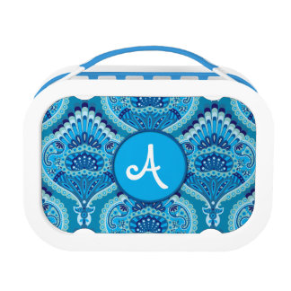 Feathered Paisley - Blueish Lunch Box