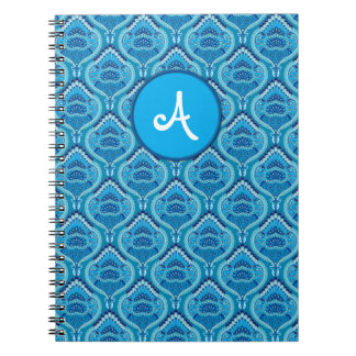 Feathered Paisley - Blueish Notebooks